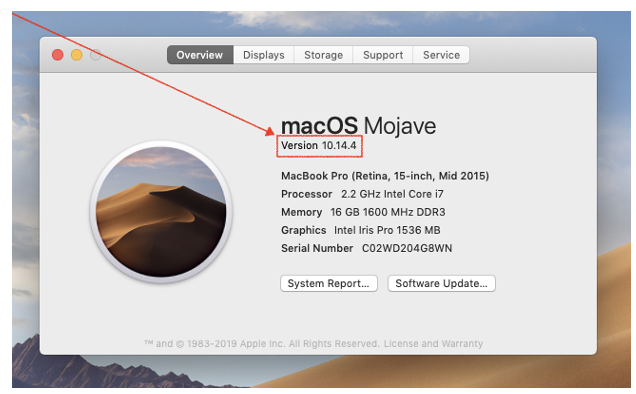MacOS System Overview Screen